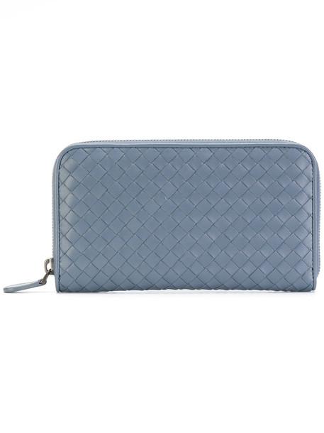 Bottega Veneta - textured purse - women - Lamb Skin - One Size, Blue, Lamb Skin