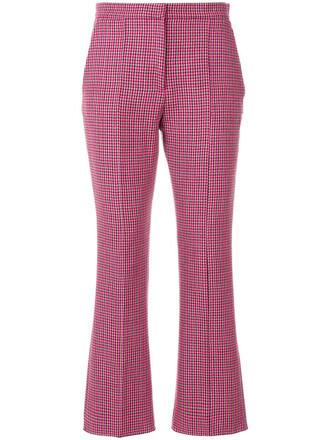 cropped women wool purple pink pants