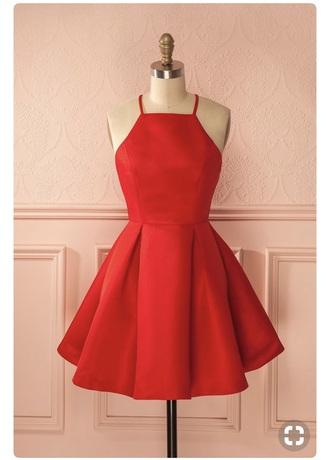 dress short dress red red dress homecoming dress dressofgirl prom dress