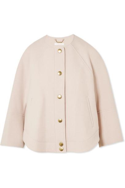 Chloe jacket wool blush