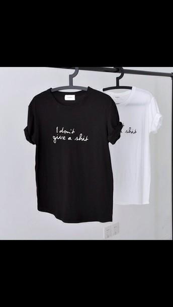 shirt black shirt white