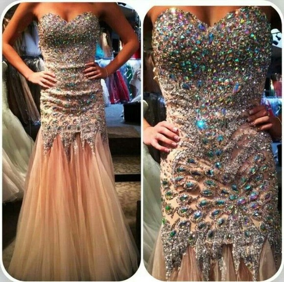 prom dress prom formal homecoming beige dress homecoming dresses sparkly dress beautiful dress