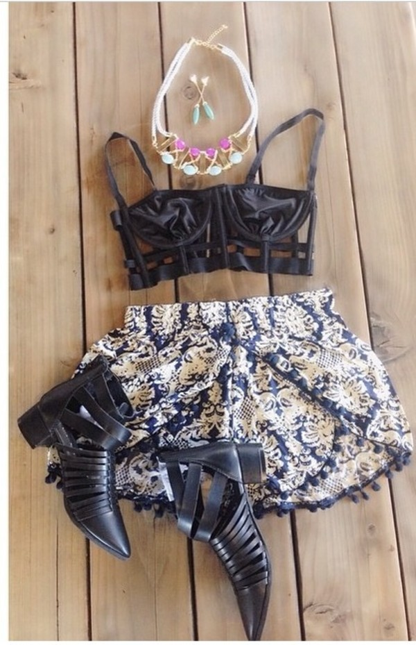 shorts pom pom shorts cute shorts summer outfits festival music festival bralette boots shoes jewels shirt chunky high heeled ankle boots chelsea boots