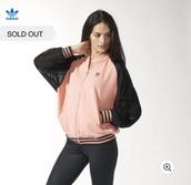 jacket,adidas,black,pink,winter jacket,supergirl,original