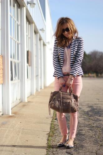 lilly's style jacket blouse pants bag jewels belt