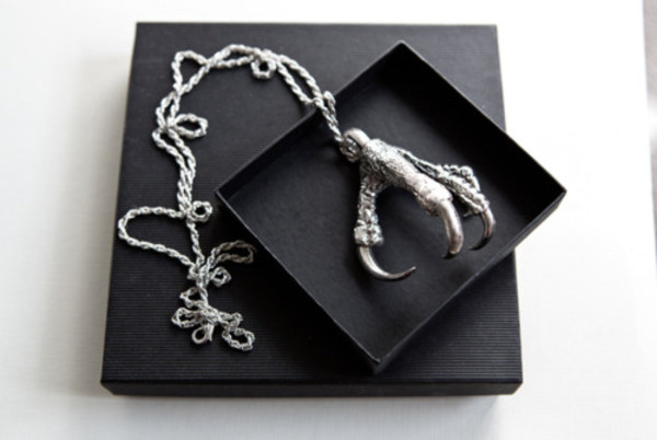 jewels silver jewelry necklace claw