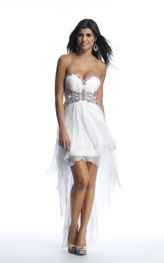dress chiffon overlay beaded high low dress high low dress online apparel prom dress white chiffon dress