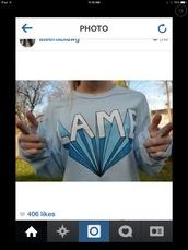 t-shirt,lame,light blue,long sleeves