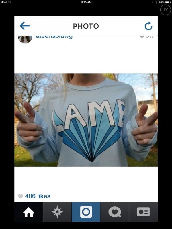 t-shirt lame light blue long sleeves