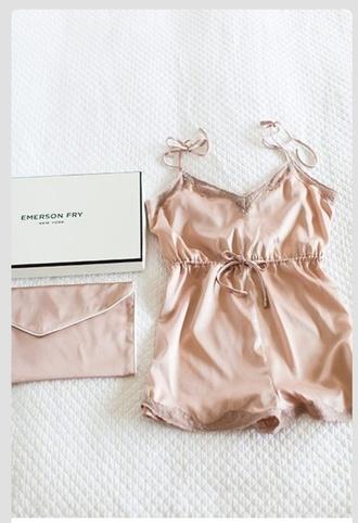 pajamas lingerie pastel pink