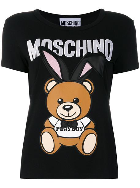 Moschino t-shirt shirt t-shirt bunny women black top