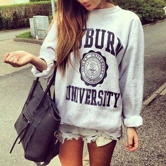 bag college messenger bag knitwear hoodie university