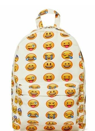 bag emoji backpack smiley