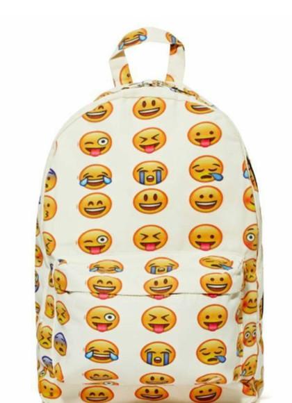 smiley bag emoji backpack
