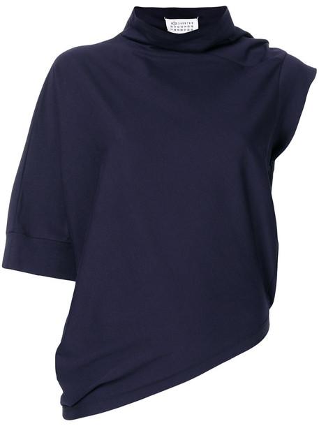 MAISON MARGIELA top women cotton blue