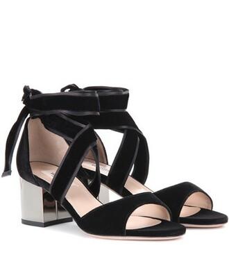 ballet sandals velvet sandals velvet black shoes