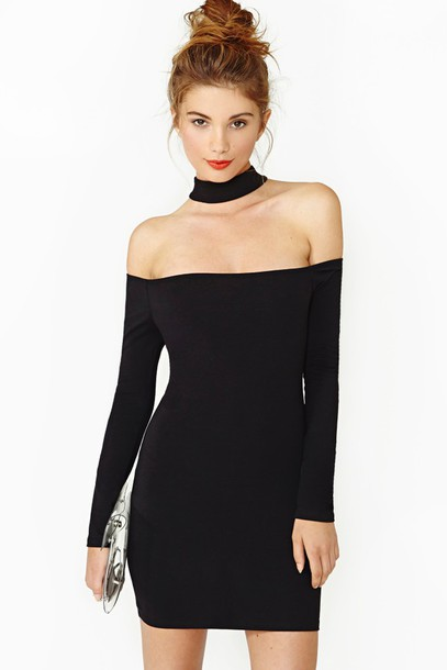 Dress: backless dress, black dress, black, little black dress ...
