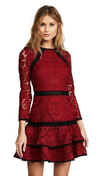 Alexis dress dark lace dark red red lace red