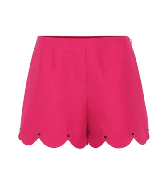 Valentino Silk and wool shorts in pink