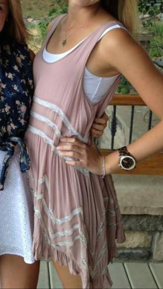 dress white dress flowy dress flowy pink dress white