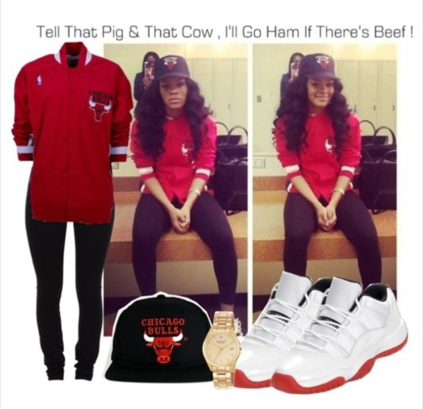 jacket red chicago bulls air jordan shoes