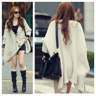 cardigan beige knitted cardigan oversized sweater coat knitwear fall outfits fashion kawaii girly clothes