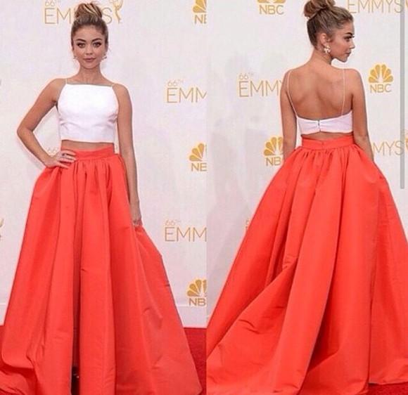 skirt orange skirt oversized skirt maxi skirt wide skirt big skirt