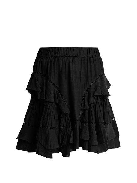Isabel Marant etoile skirt mini skirt mini cotton black