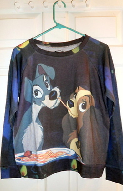 T Shirt Lady And The Tramp Sweatshirt Sweater Crewneck