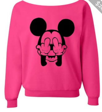 mickey mouse sweater pink