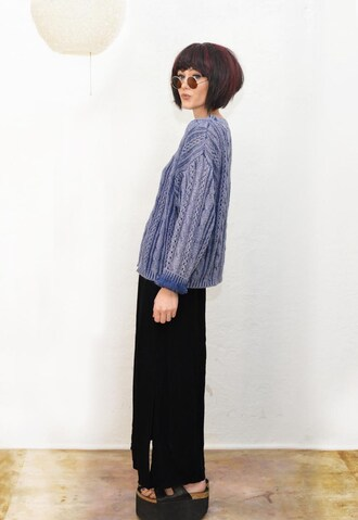 sweater 90s style statement knit knit top cropped vintage chunky knit sunglasses