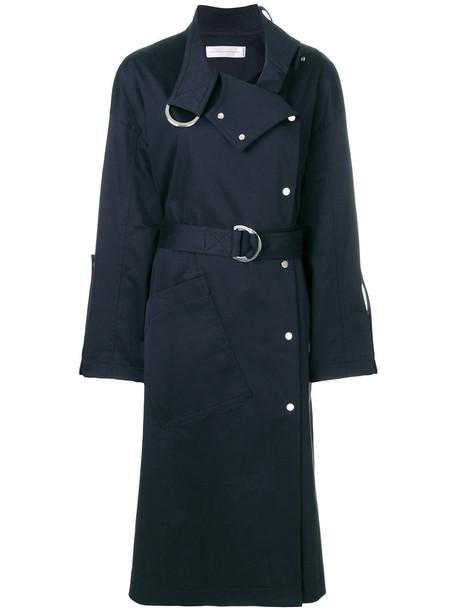 coat trench coat women spandex cotton blue