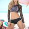 Dream catcher long sleeve bikini set