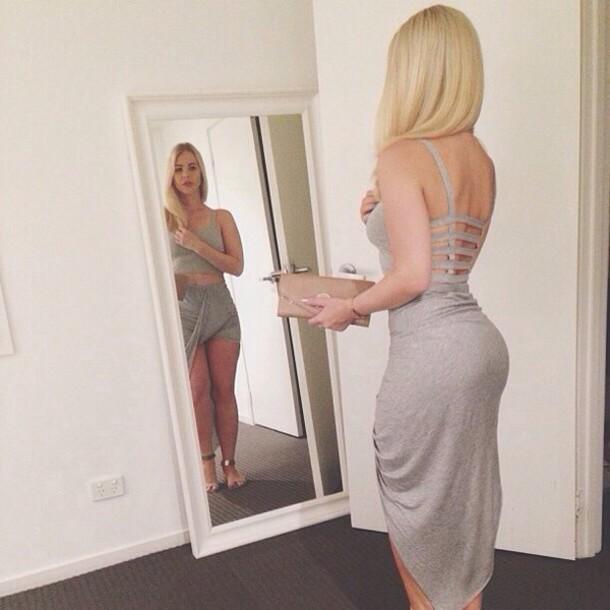 Blonde Tight Skirt 65