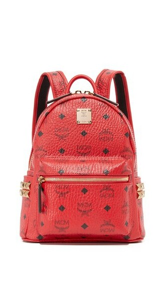 mini backpack red bag