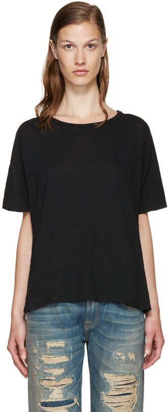 t-shirt shirt oversized t-shirt oversized classic black top