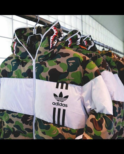 sneakers for cheap 921a1 989d2 coat, bape, adidas
