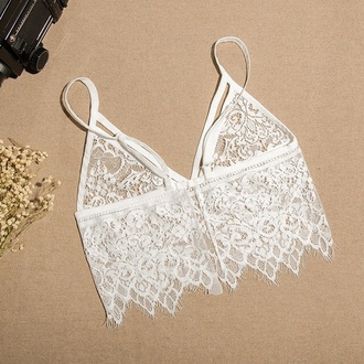 top white trendy lace crop tops summer fashion style musheng