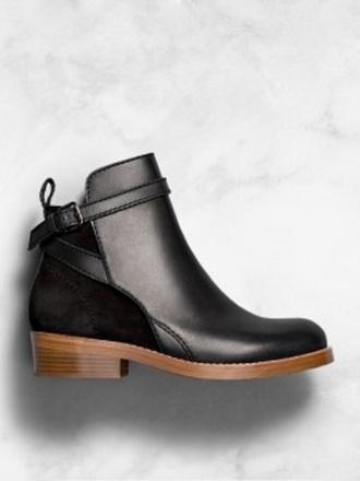 shoes ankle boots black wooden platforms wooden heels leder perfect wooden heel