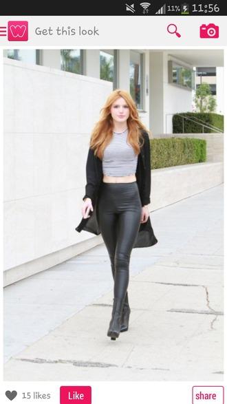 leggings black leggings leather leggings bella thorne boots shoes leather boots fashion