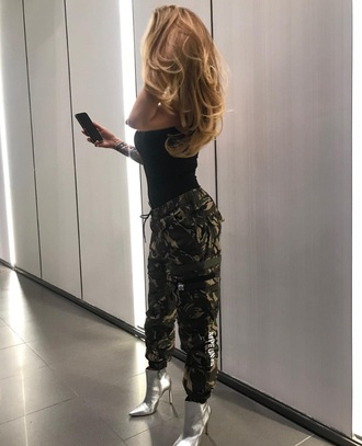 jeans army green pants