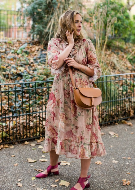blogger dress shoes bag cardigan crossbody bag midi dress fall outfits plus size dress curvy
