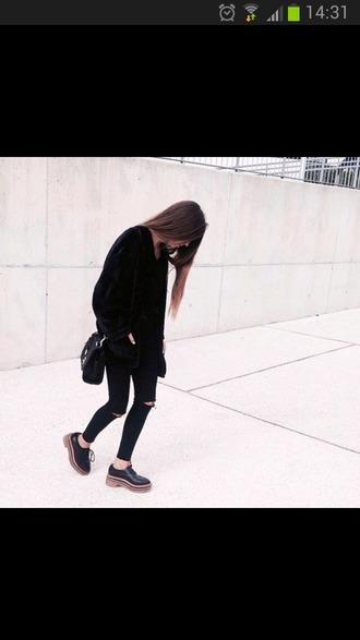 jeans black pants