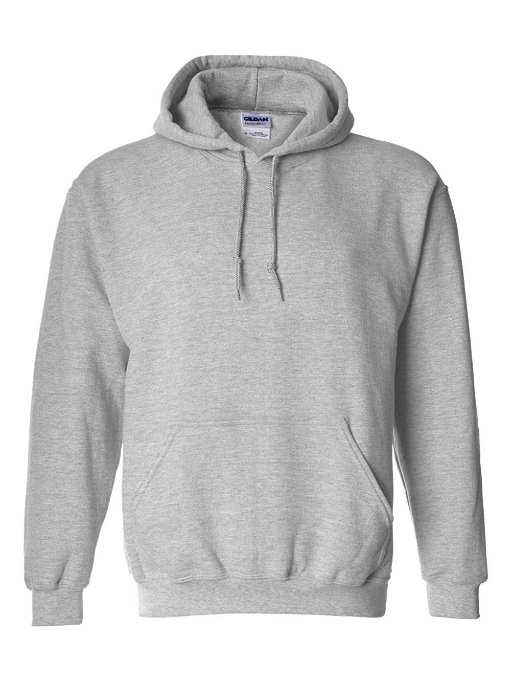 Gildan 18500 - Classic Fit Adult Hooded Sweatshirt Heavy Blend - First Qualit. at Amazon Men's Clothing store:
