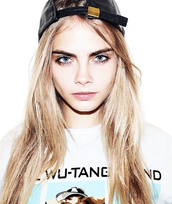 t-shirt,top,wu-tang clan,cara delevingne,hat,face,cute,beautiful,hot,cheek bones,wannabe,gorgeous,swag,printed t-shirt,shirt