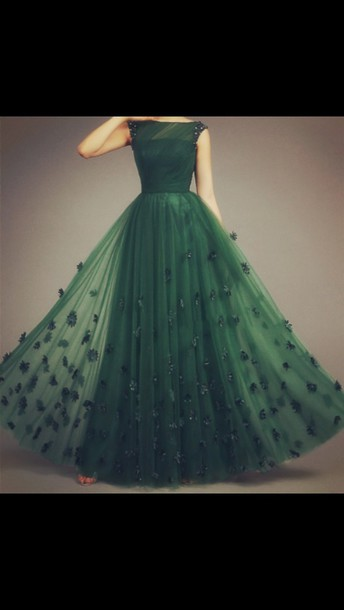 dress green dress emerald green prom dress prom prom emerald dress lace dress tulle dress tulle prom dress