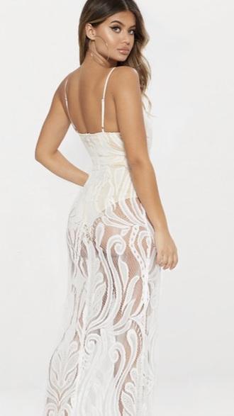 dress mesh lace white