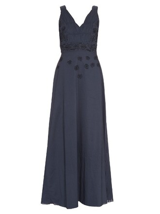 dress maxi dress maxi embroidered cotton navy