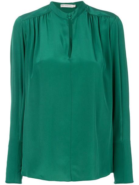 MARY KATRANTZOU blouse women silk green top