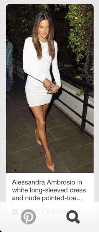 dress white bodycon